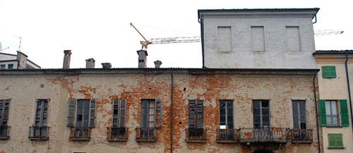Uno scorcio del Palazzo durante le opere di restauro