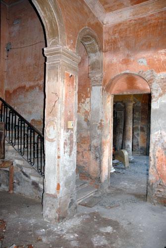 Uno scorcio del Palazzo prima dei restauri